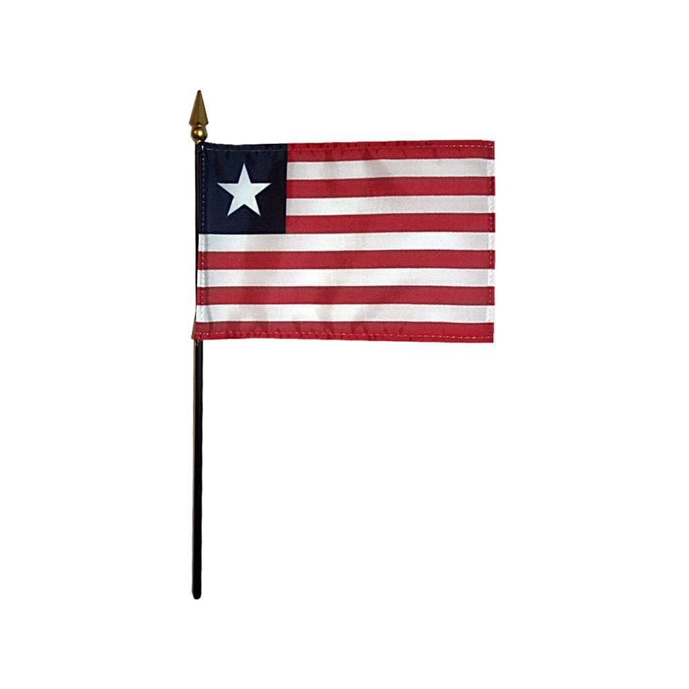 Liberia Stick Flag 4x6 in