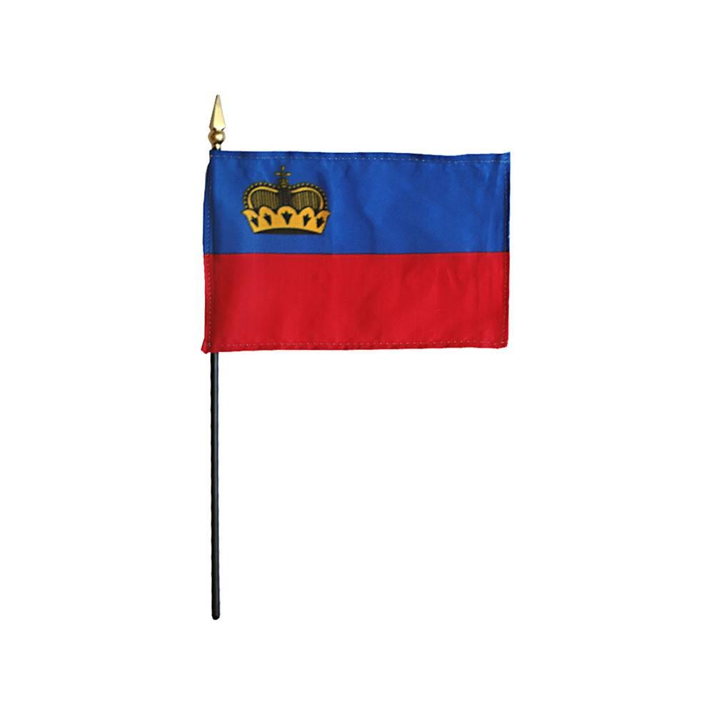 Liechtenstein Stick Flag 4x6 in