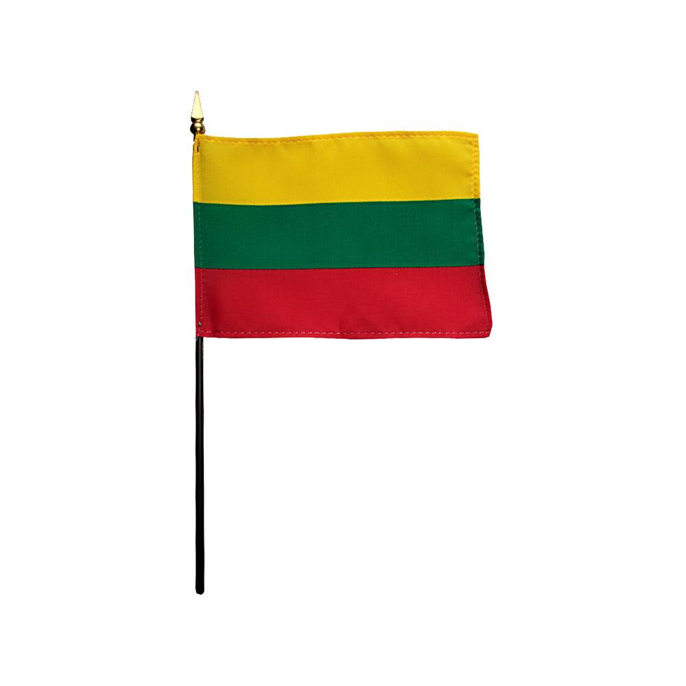 Lithuania Stick Flag 4x6 in