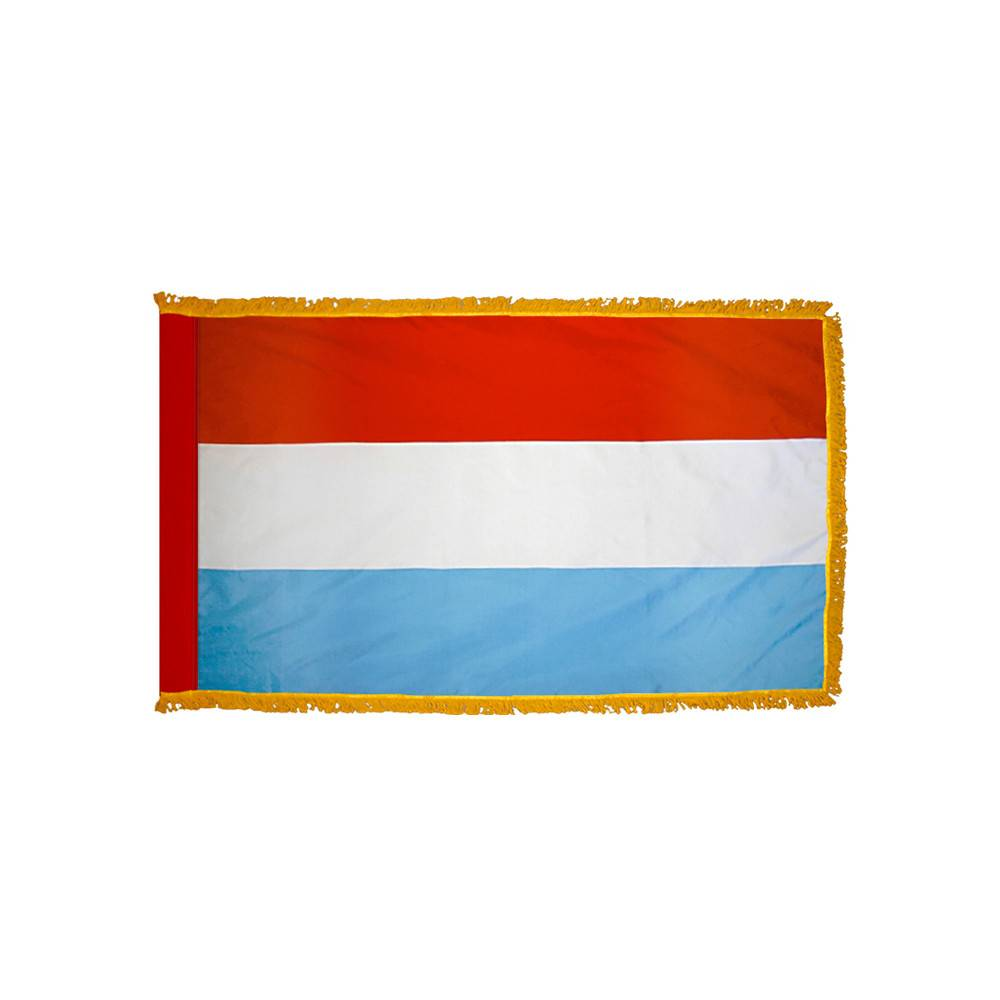 Luxembourg Flag with Polesleeve & Fringe