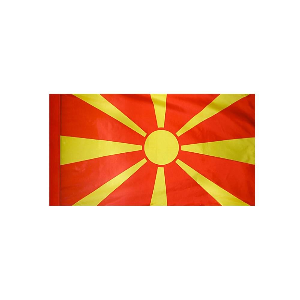Macedonia Flag with Polesleeve