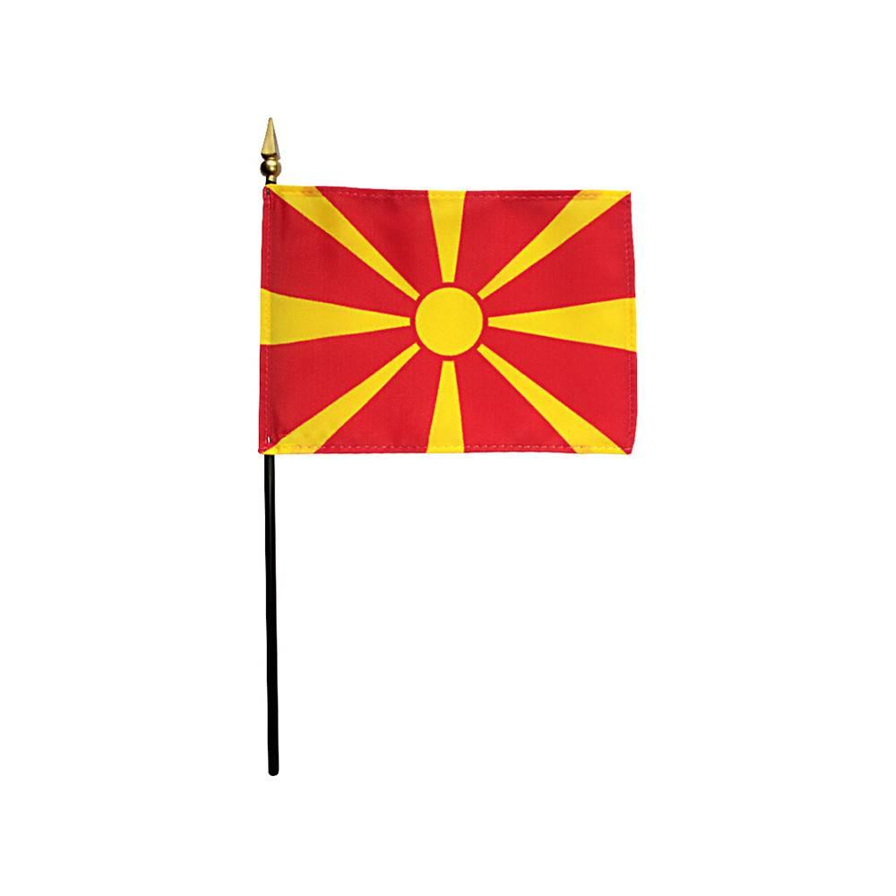Macedonia Stick Flag 4x6 in
