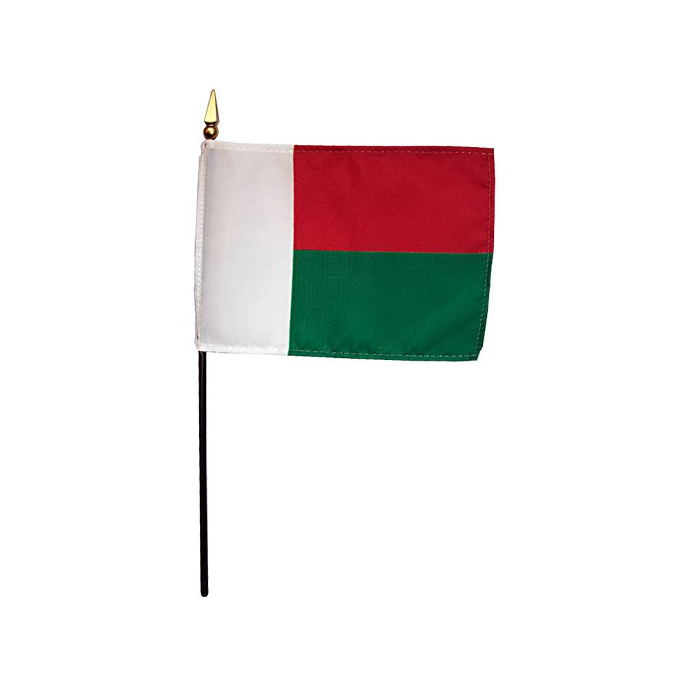 Madagascar Stick Flag 4x6 in