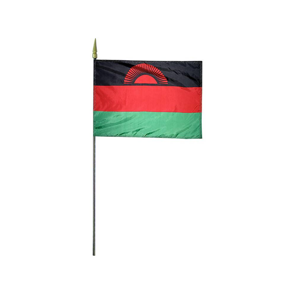 Malawi Stick Flag 4x6 in