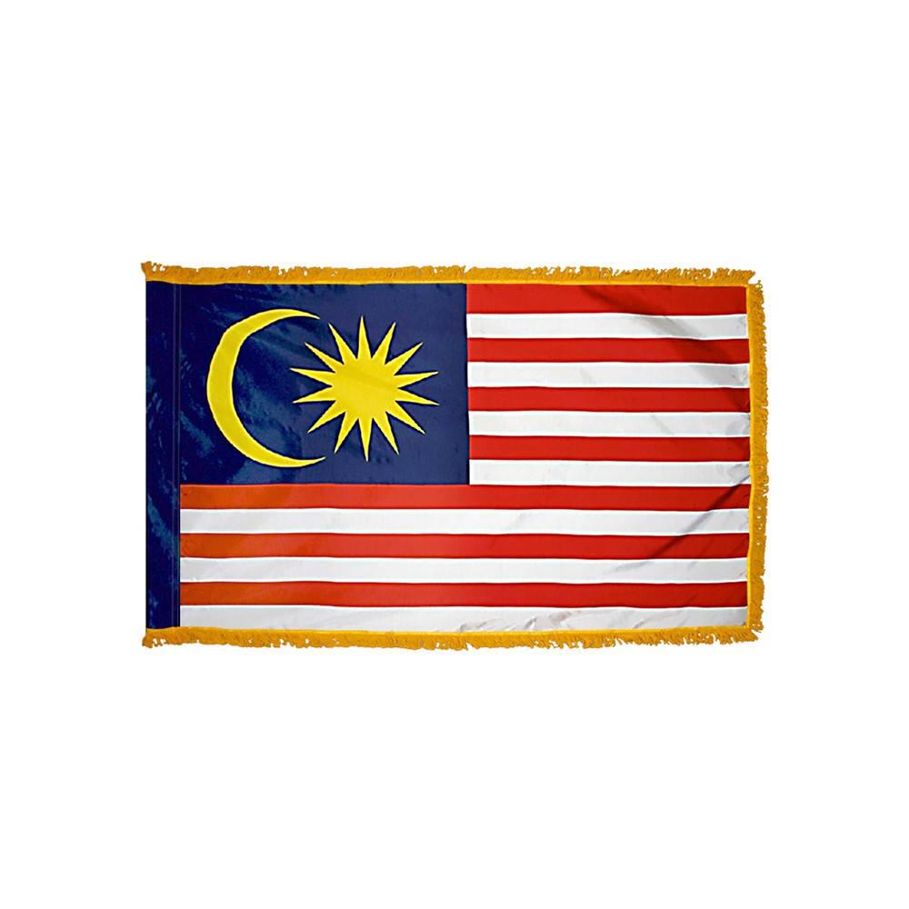 Malaysia Flag with Polesleeve & Fringe