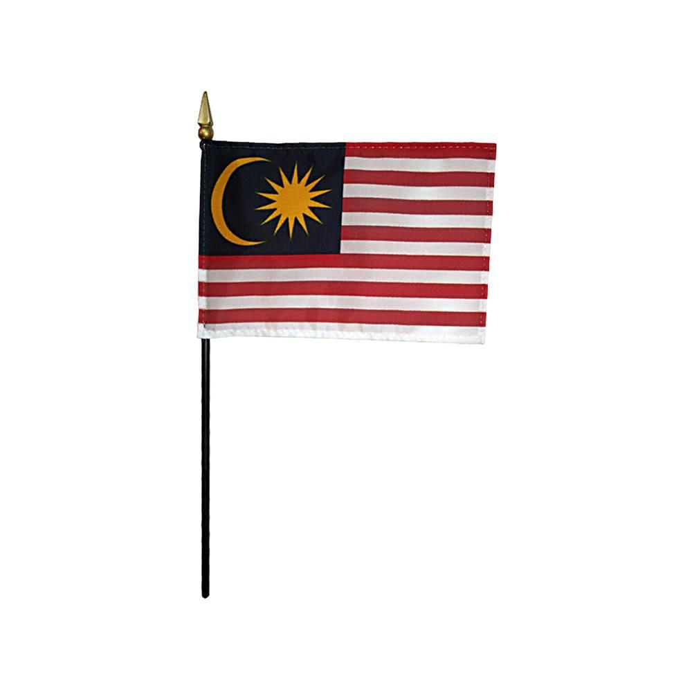 Malaysia Stick Flag 4x6 in