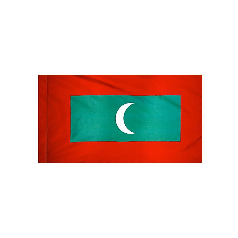 Maldives Flag with Polesleeve