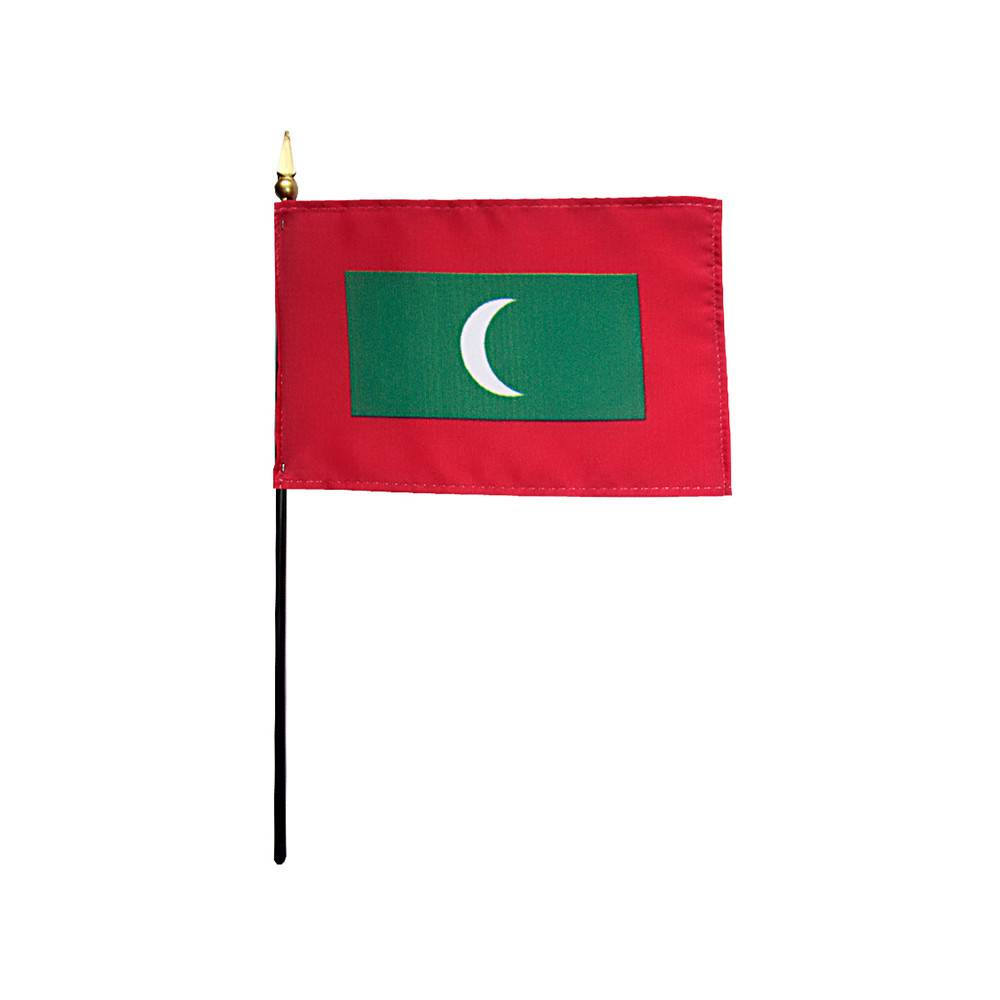 Maldives Stick Flag 4x6 in