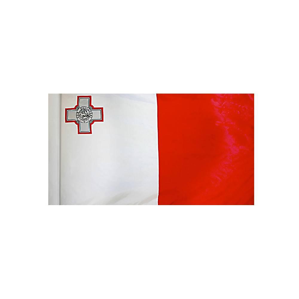 Malta Flag with Polesleeve