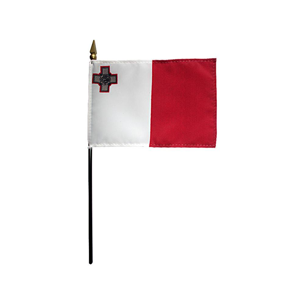 Malta Stick Flag 4x6 in