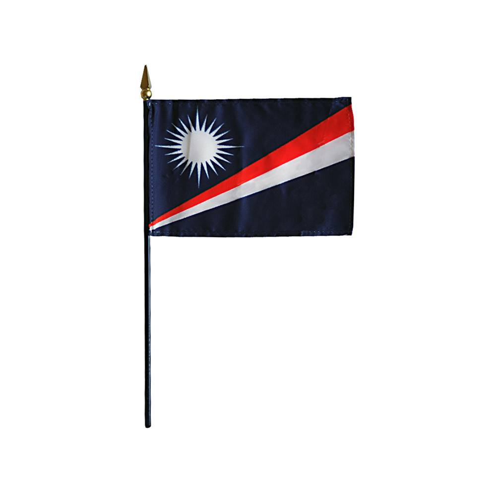 Marshall Islands Stick Flag 4x6 in