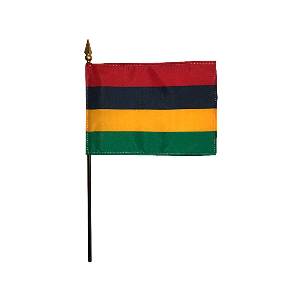Mauritius Stick Flag 4x6 in