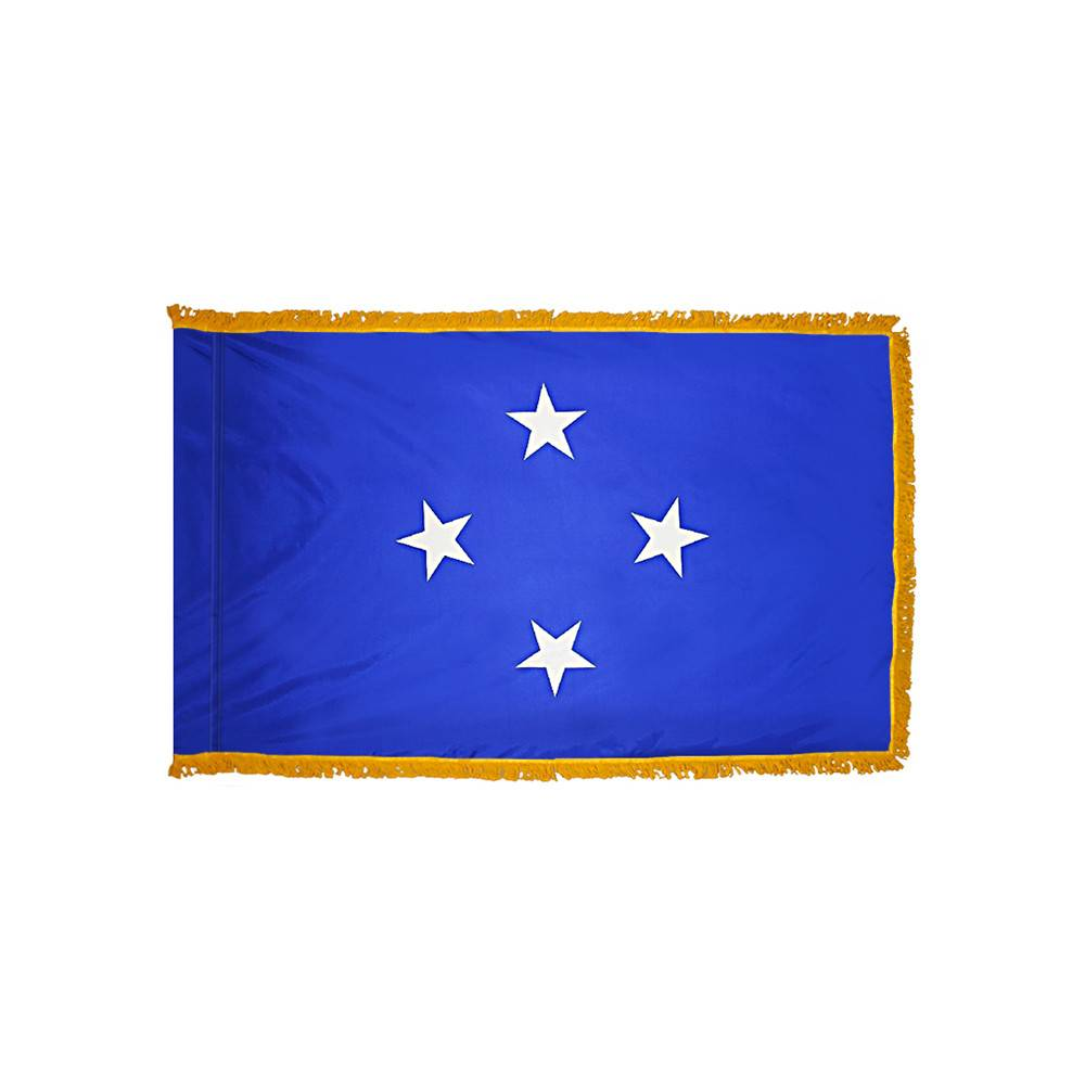Micronesia Flag with Polesleeve & Fringe