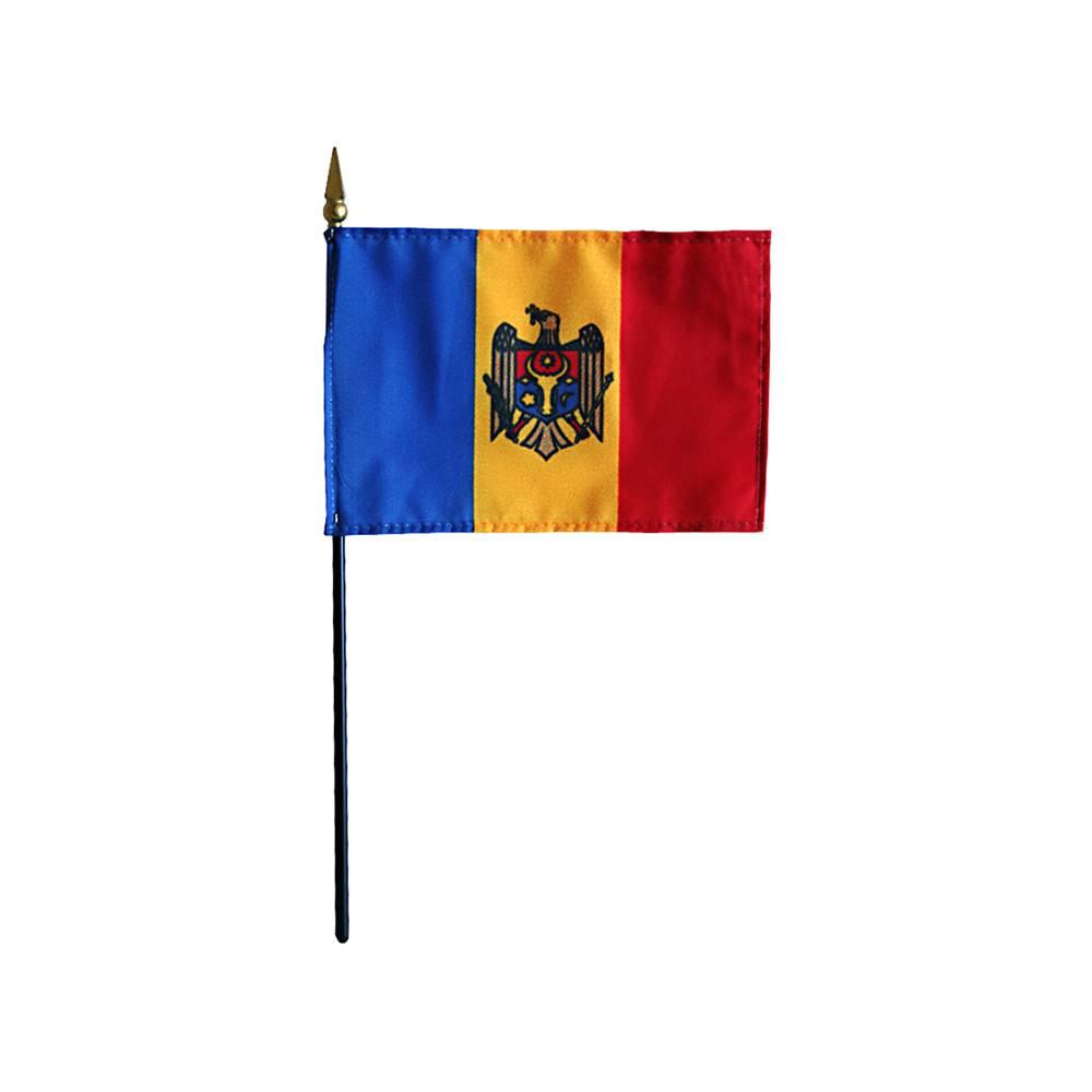 Moldova Stick Flag 4x6 in