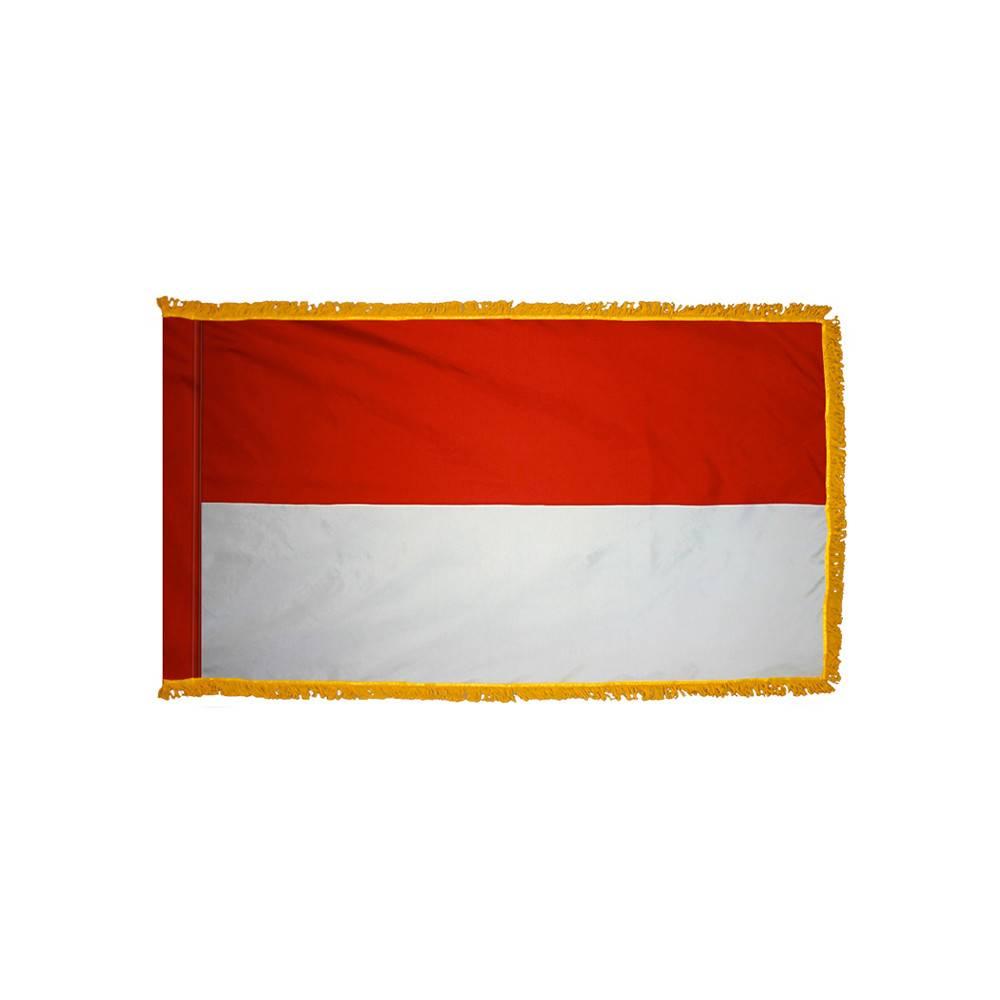 Monaco Flag with Polesleeve & Fringe