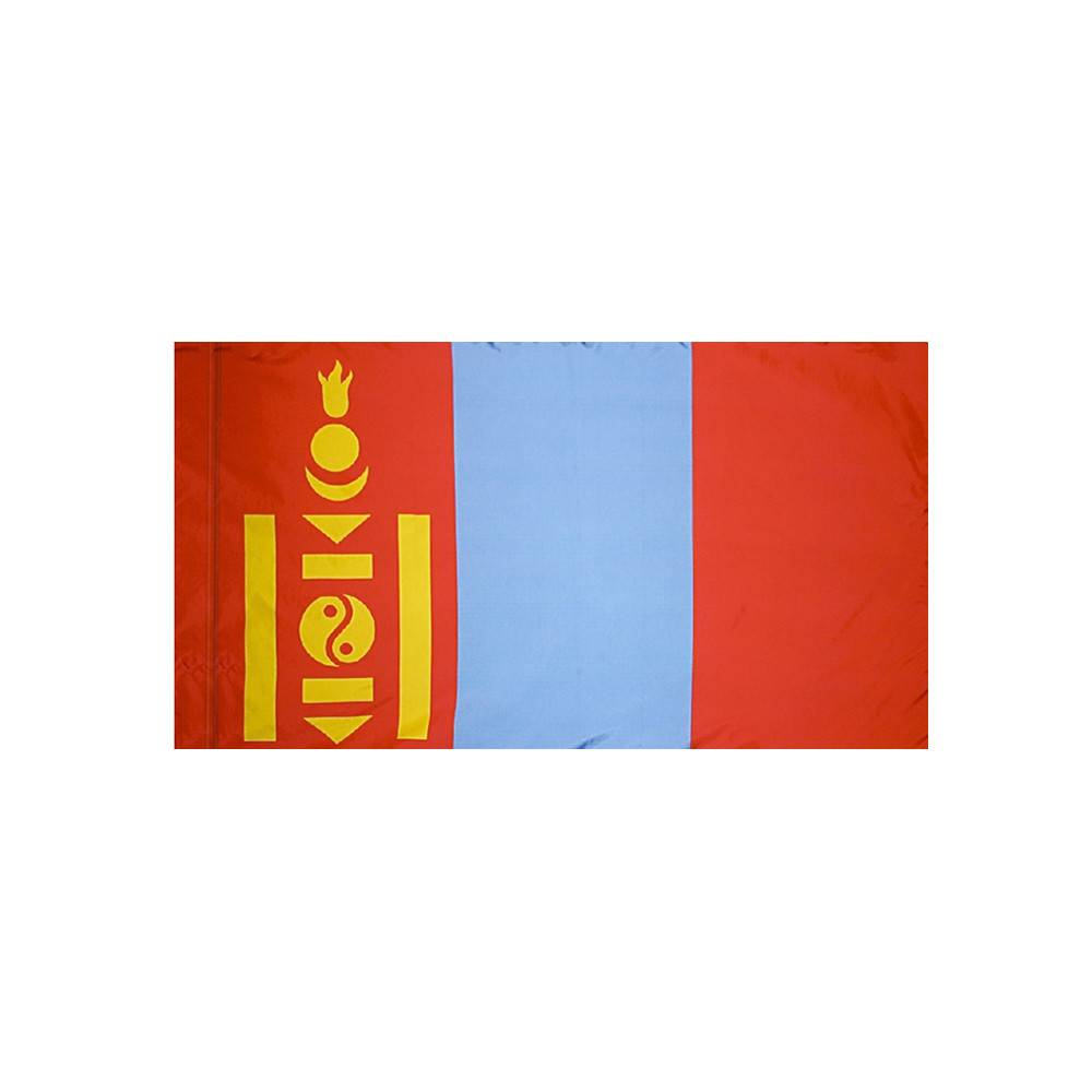 Mongolia Flag with Polesleeve
