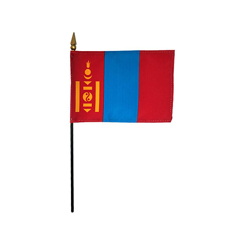 Mongolia Stick Flag 4x6 in