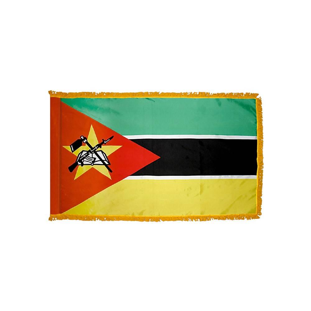 Mozambique Flag with Polesleeve & Fringe
