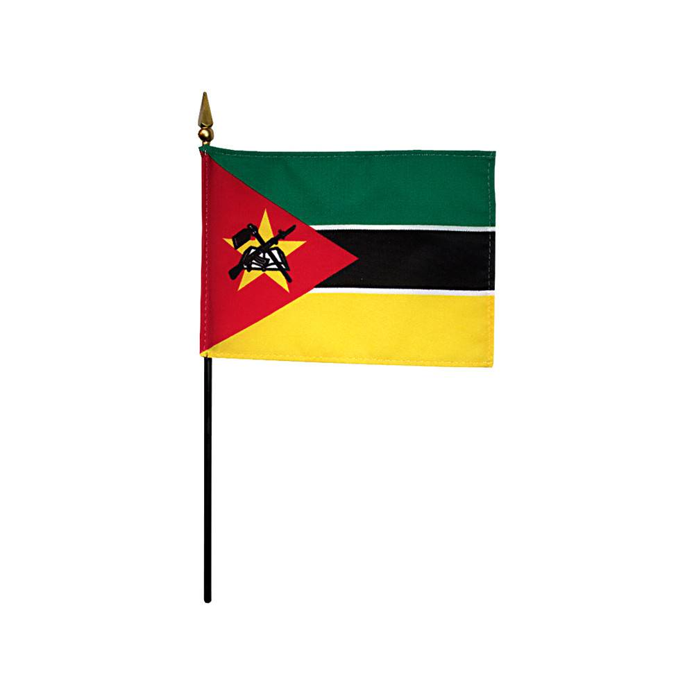 Mozambique Stick Flag 4x6 in