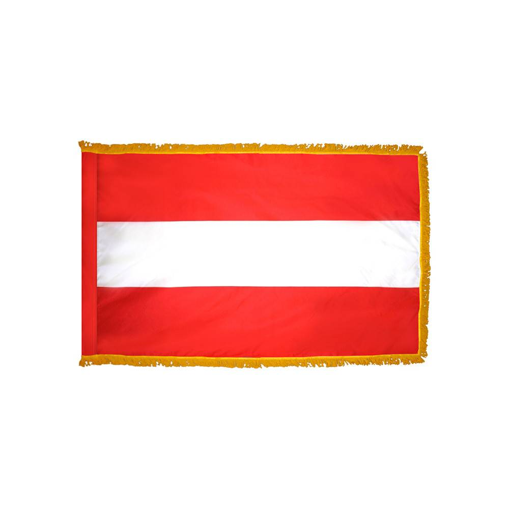 Austria Flag - Indoor & Parade with Fringe