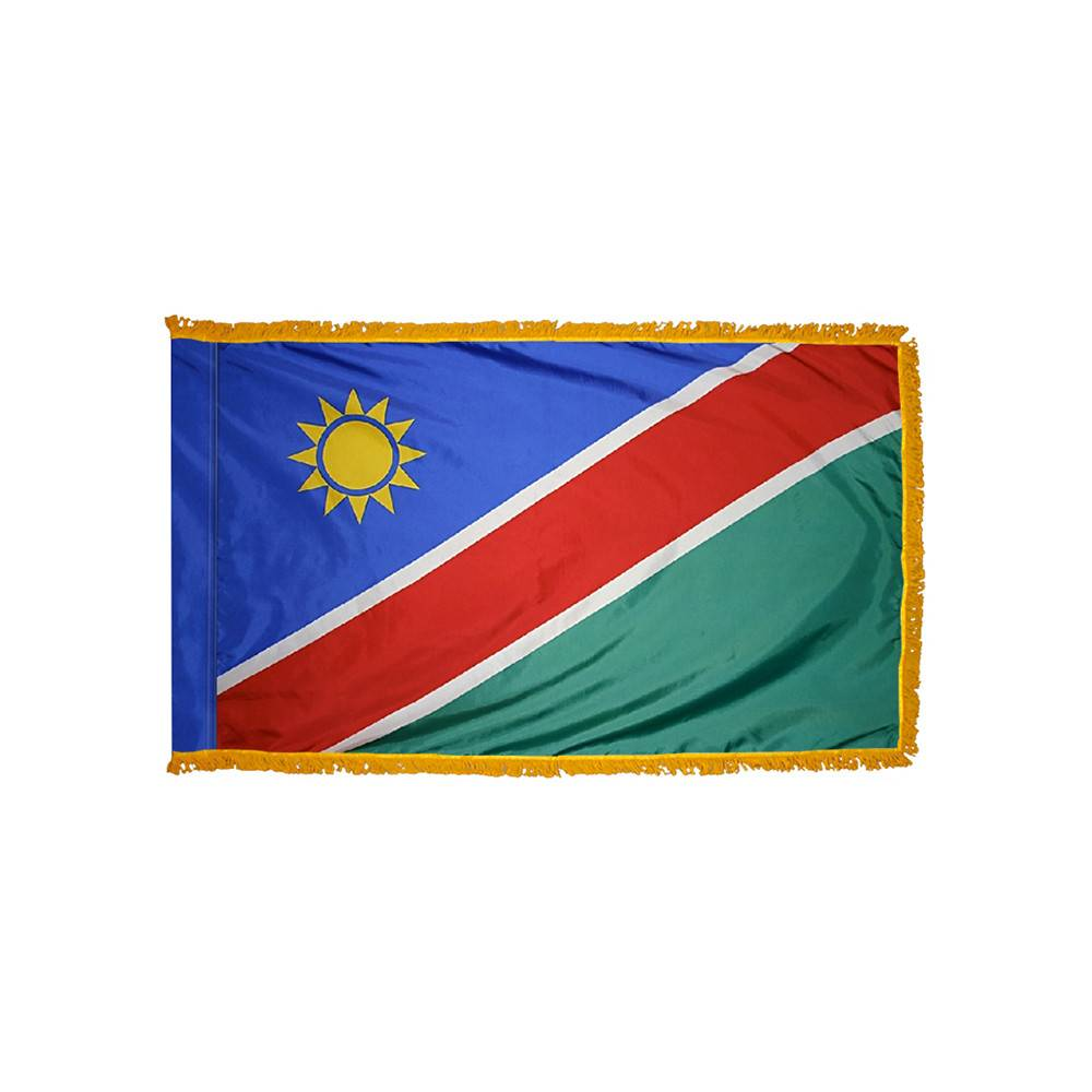 Namibia Flag with Polesleeve & Fringe