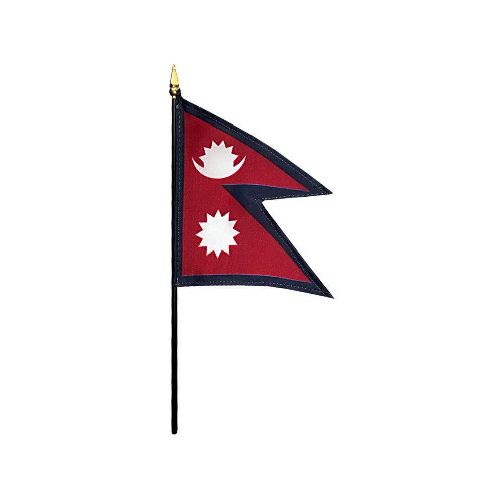 Nepal Stick Flag 4x6 in