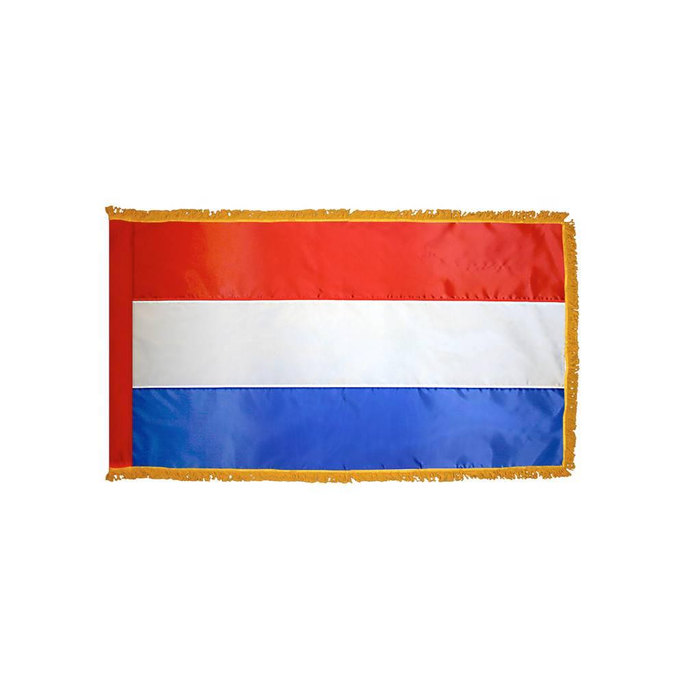 Netherlands Flag with Polesleeve & Fringe
