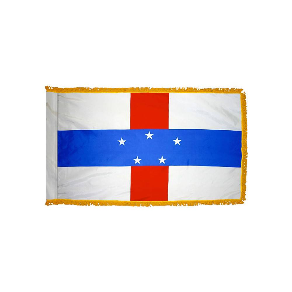Netherlands Antilles Flag with Polesleeve & Fringe