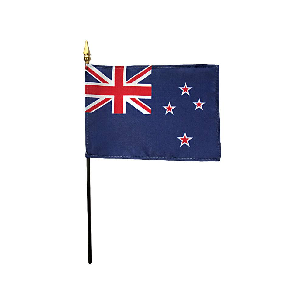 New Zealand Stick Flag 4x6 in