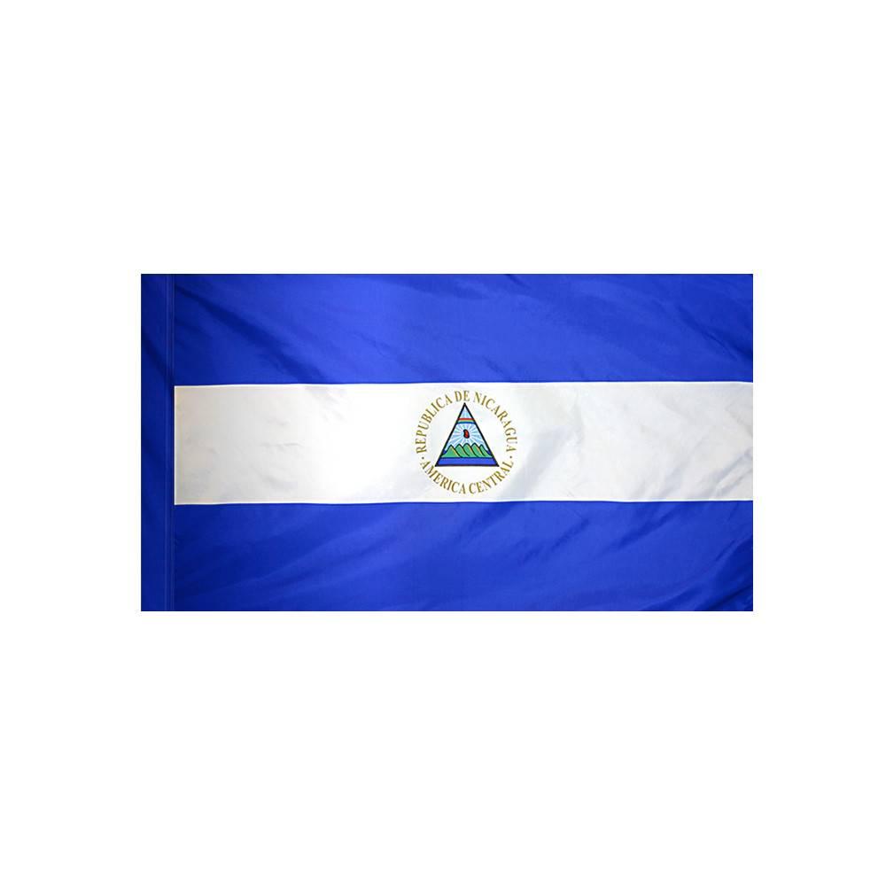 Nicaragua Flag with Polesleeve