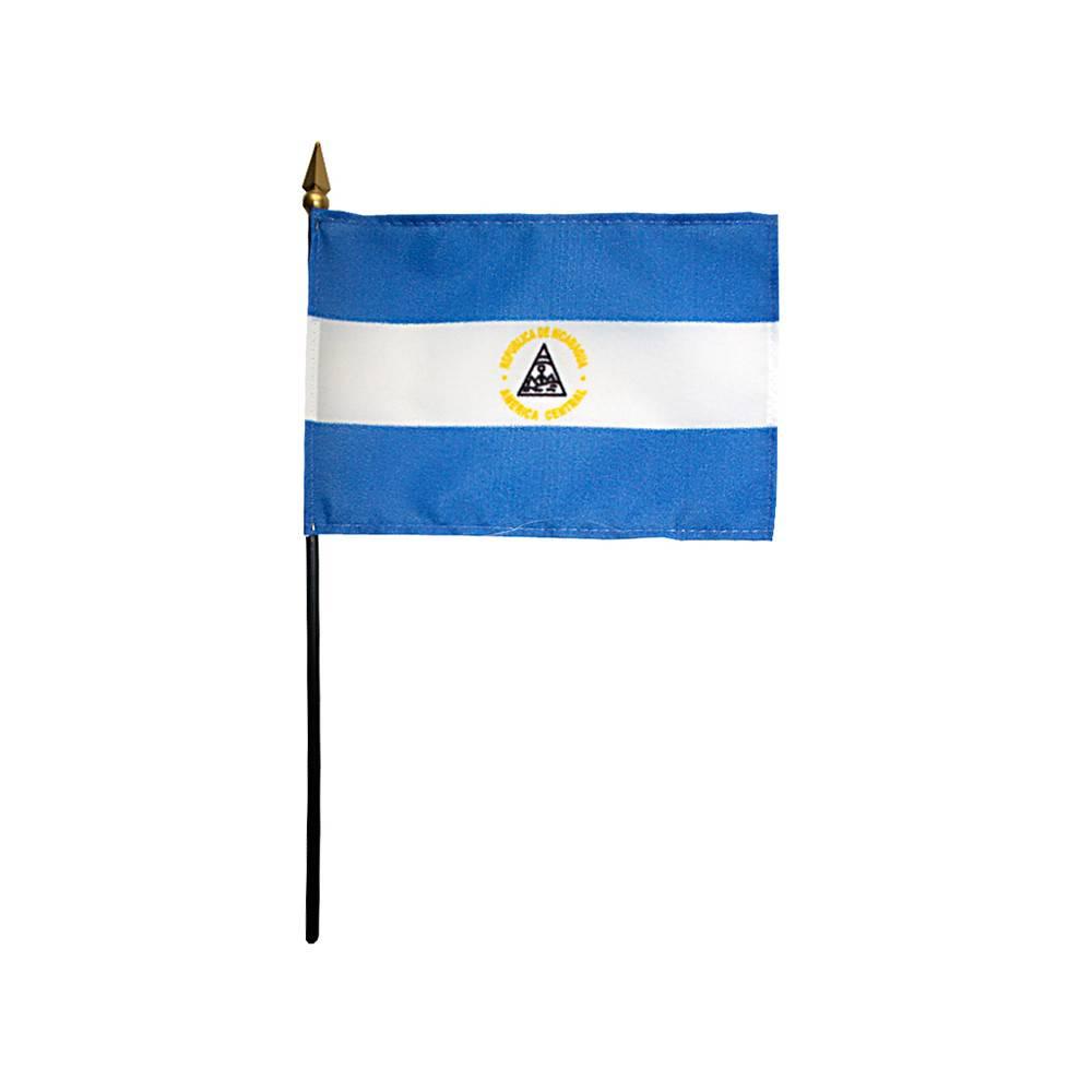 Nicaragua Stick Flag 4x6 in