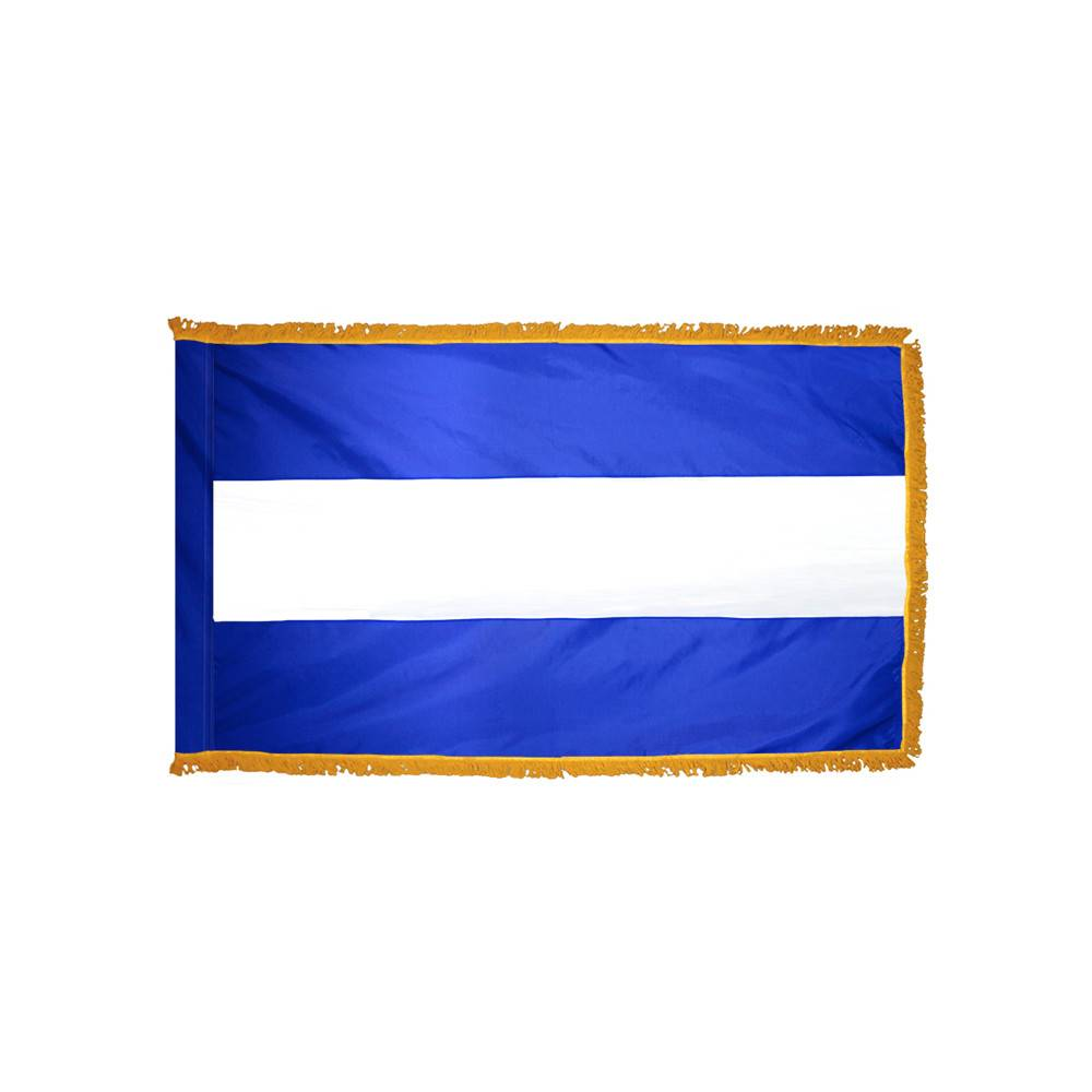 Nicaragua Flag with Polesleeve & Fringe - No Seal