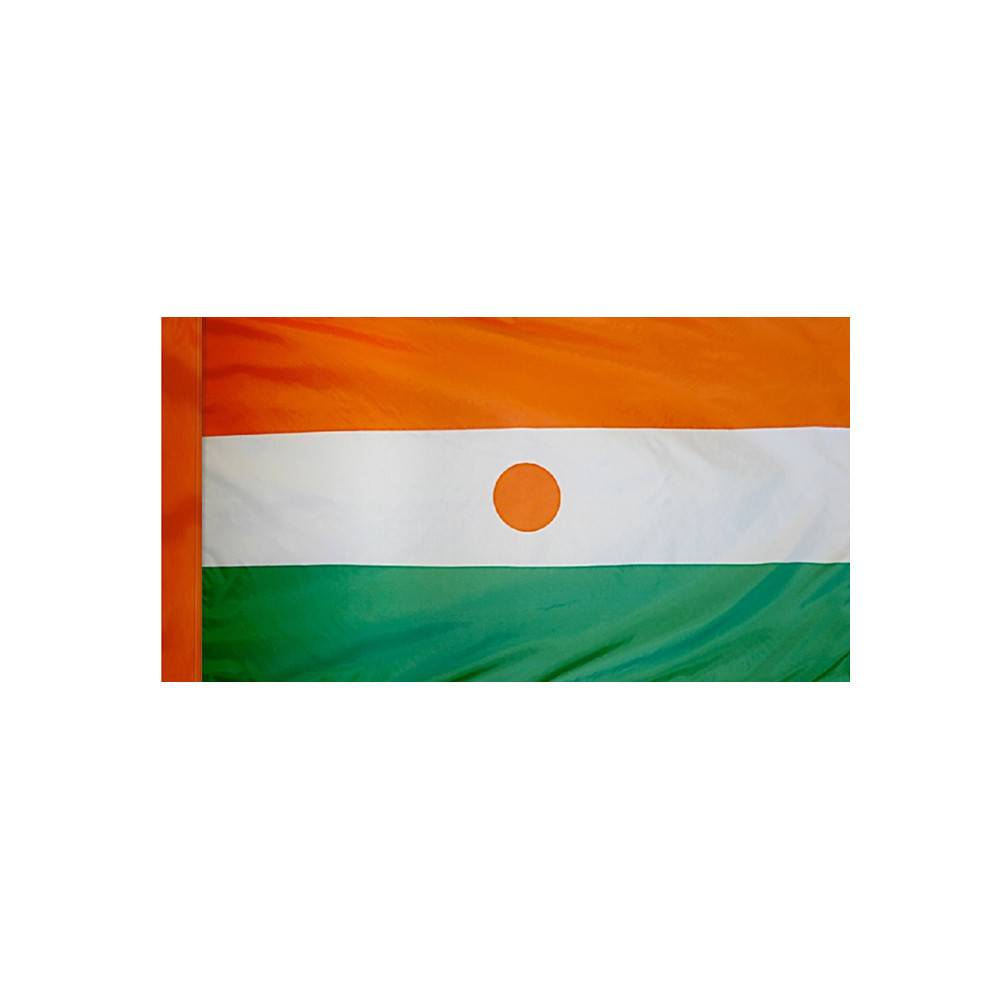 Niger Flag with Polesleeve