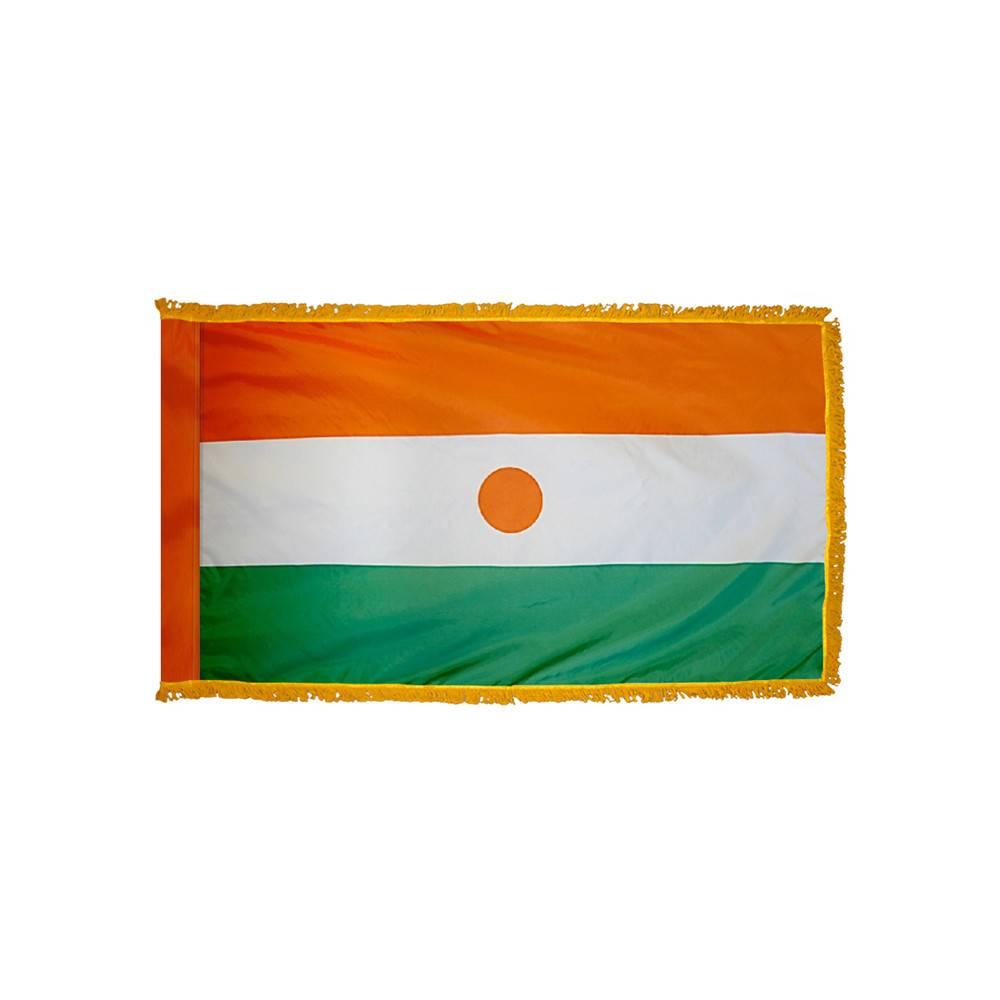 Niger Flag with Polesleeve & Fringe