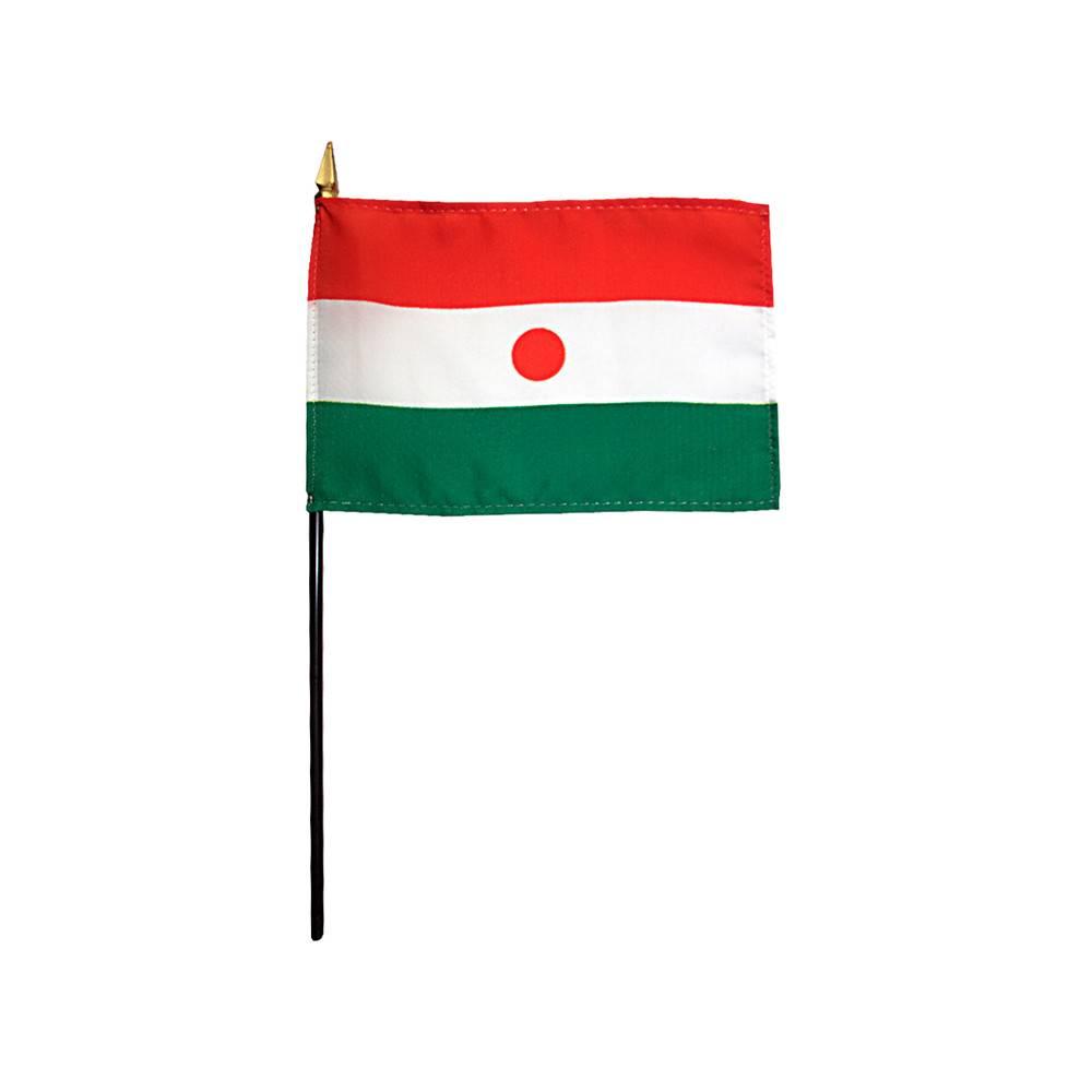 Niger Stick Flag 4x6 in