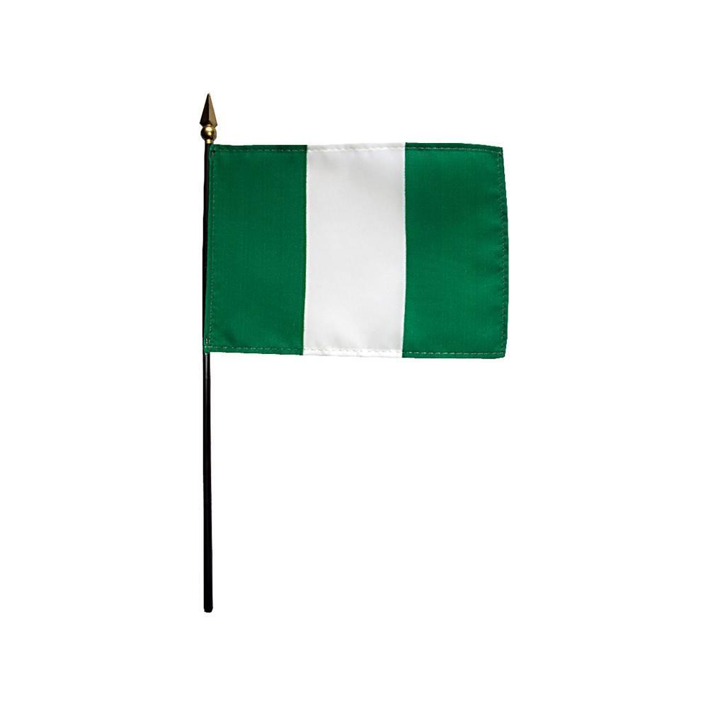 Nigeria Stick Flag 4x6 in