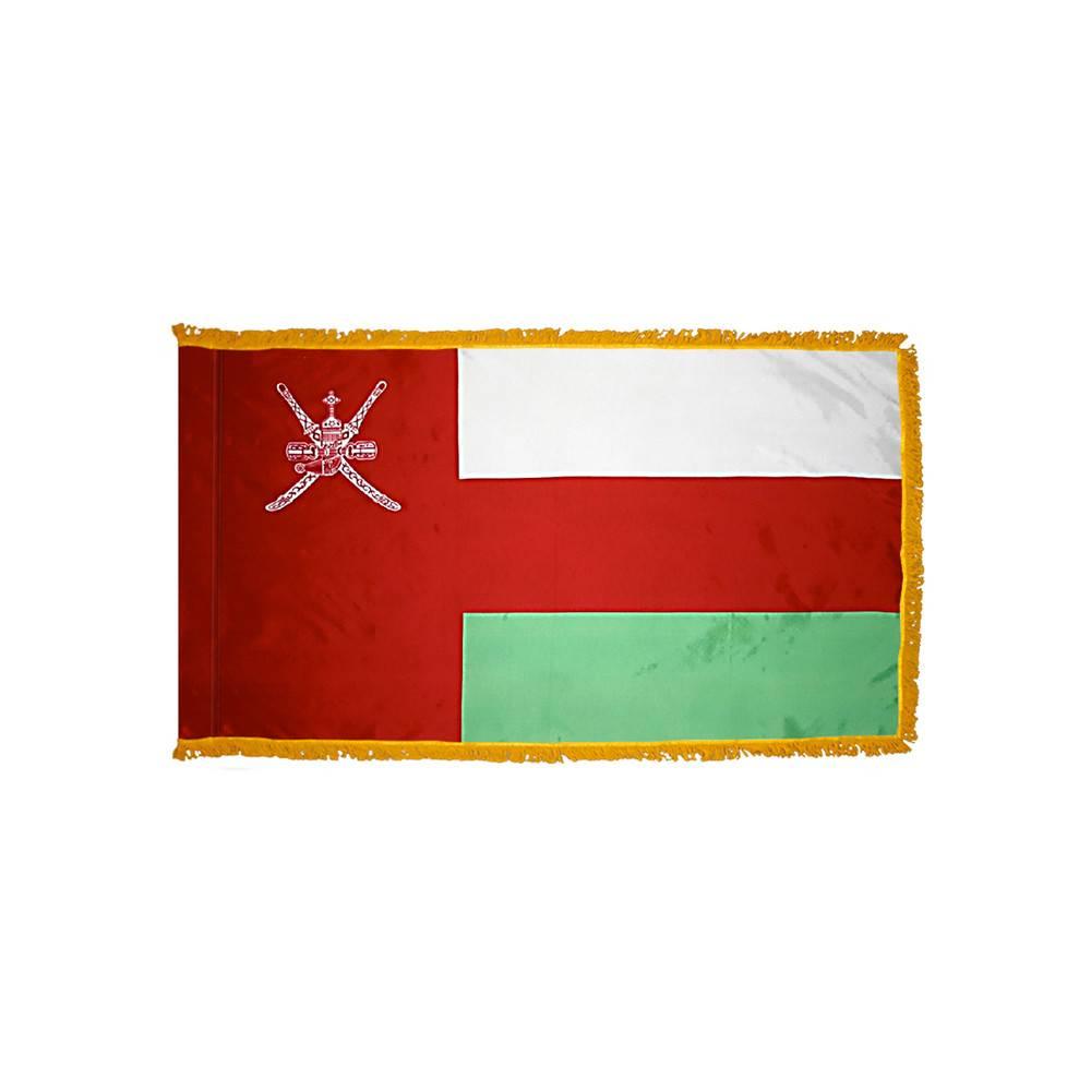 Oman Flag with Polesleeve & Fringe