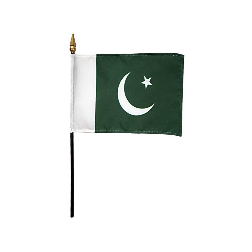 Pakistan Stick Flag 4x6 in