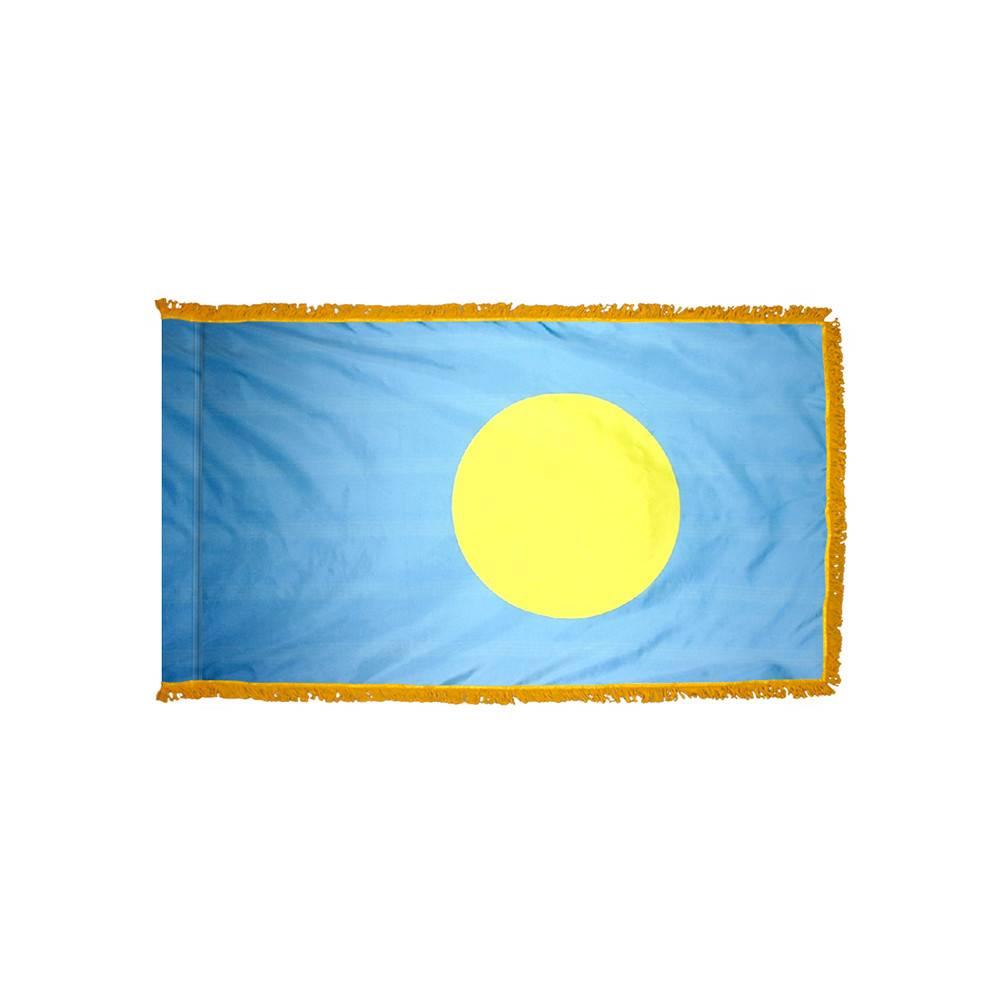 Palau Flag with Polesleeve & Fringe