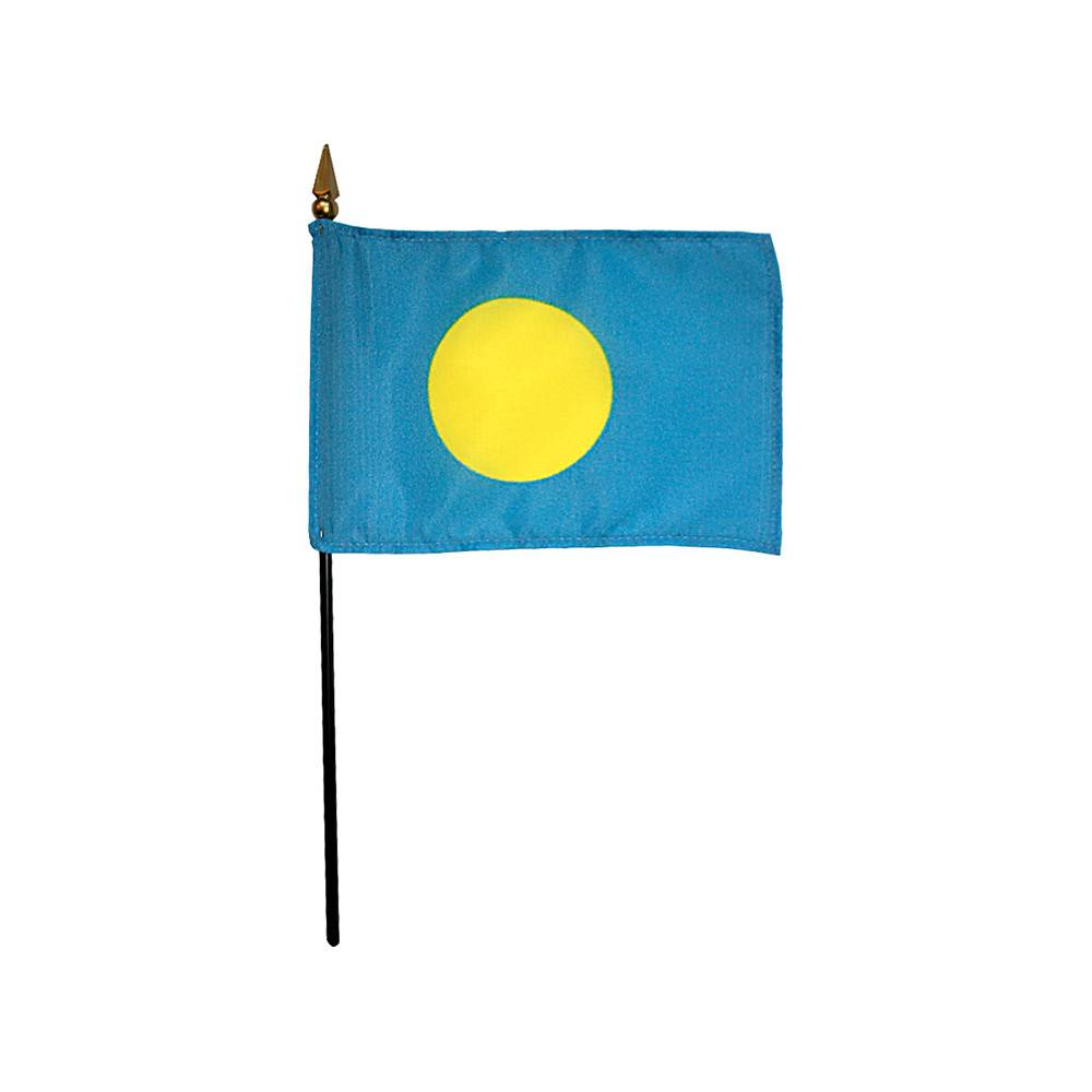 Palau Stick Flag 4x6 in