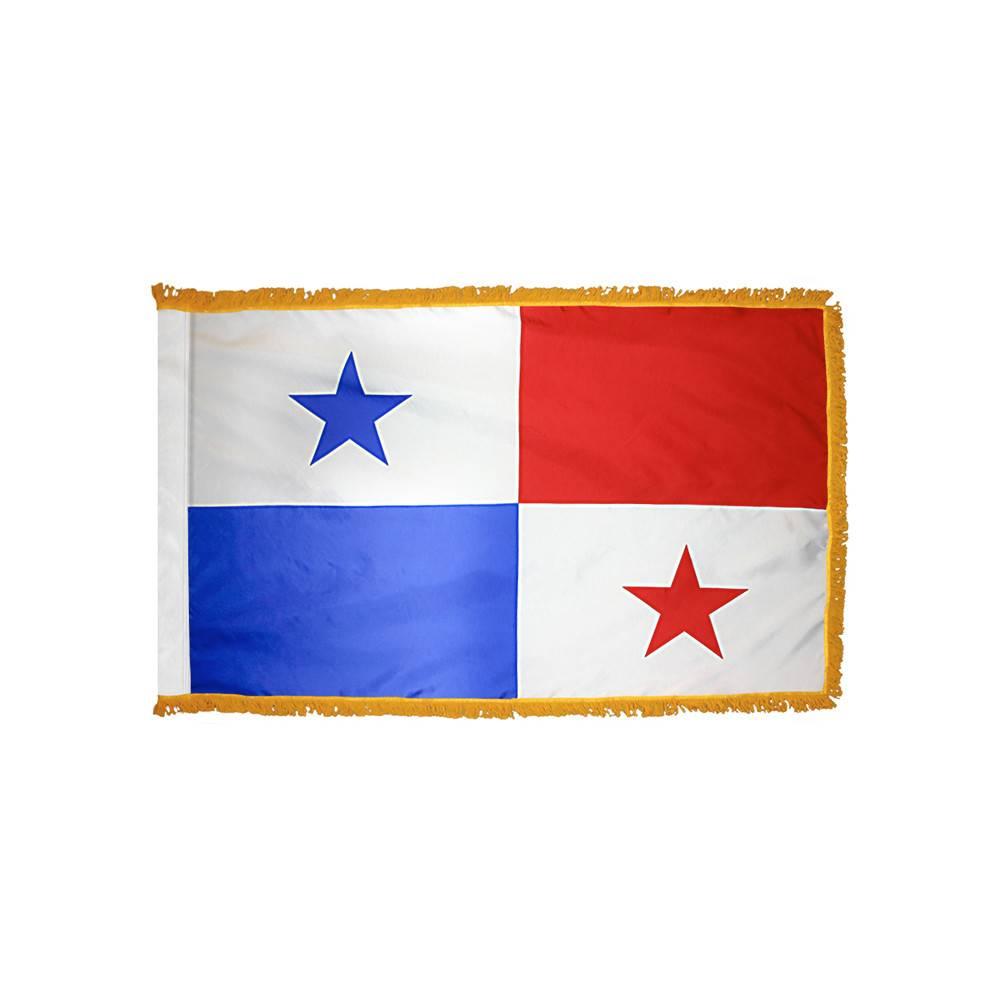 Panama Flag with Polesleeve & Fringe