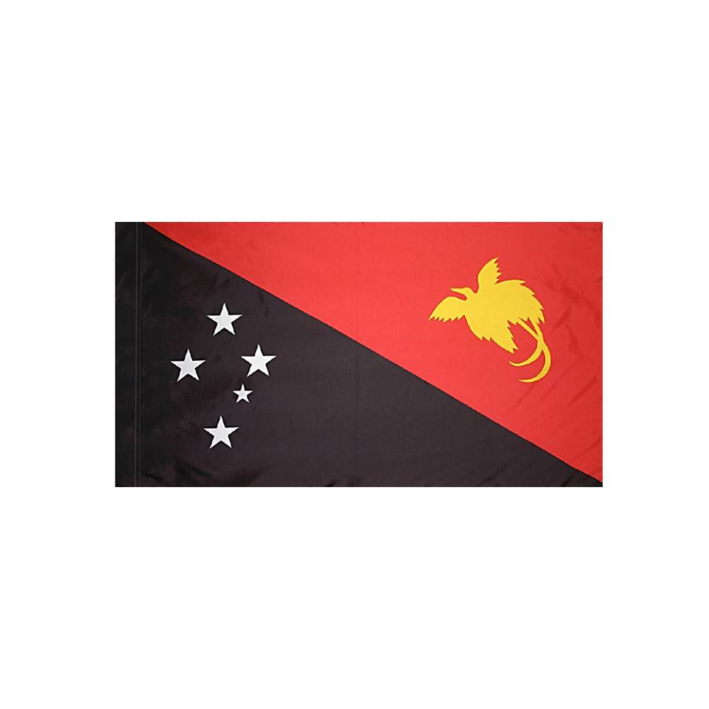 Papua New Guinea Flag with Polesleeve