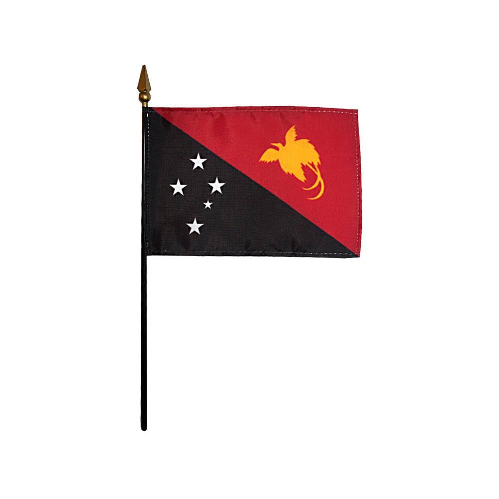 Papua New Guinea Stick Flag 4x6 in