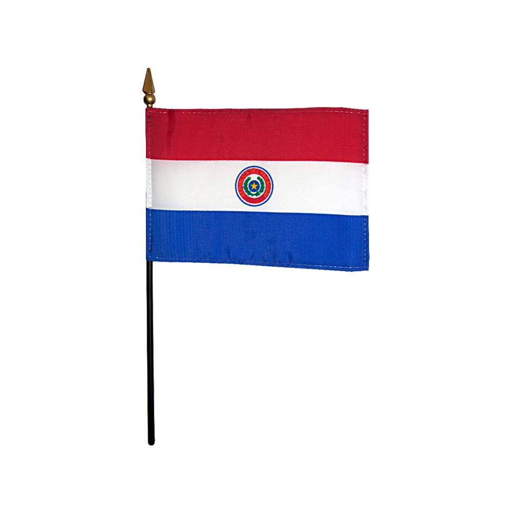 Paraguay Stick Flag 4x6 in