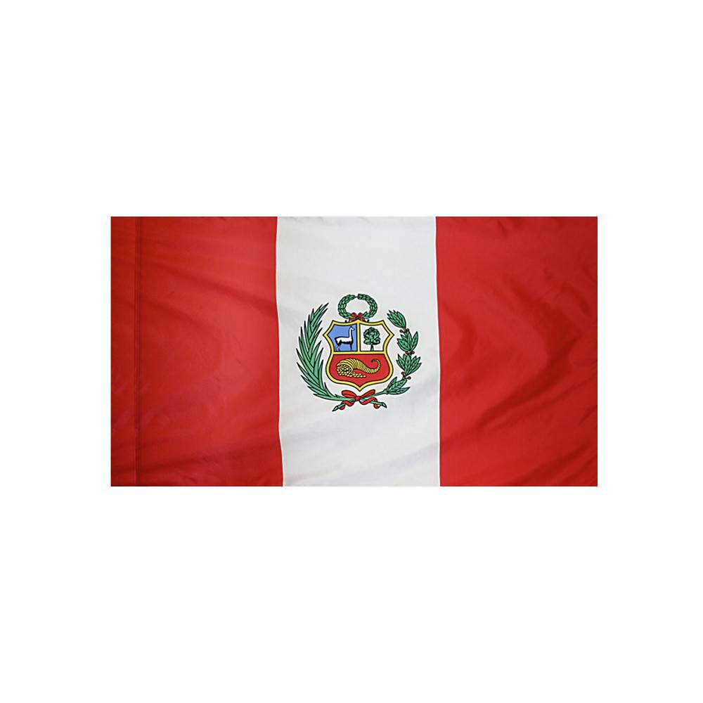 Peru Flag with Polesleeve