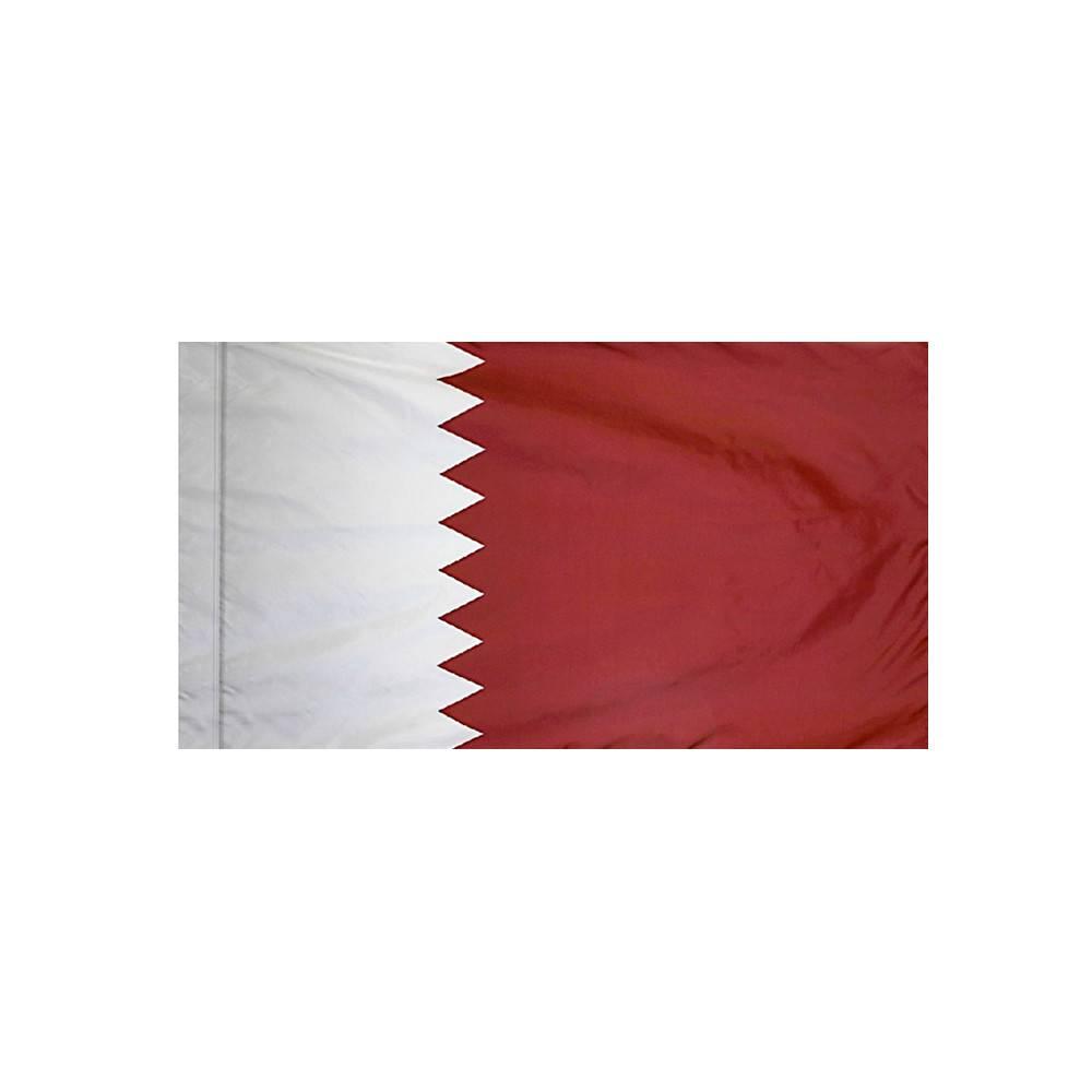 Qatar Flag with Polesleeve