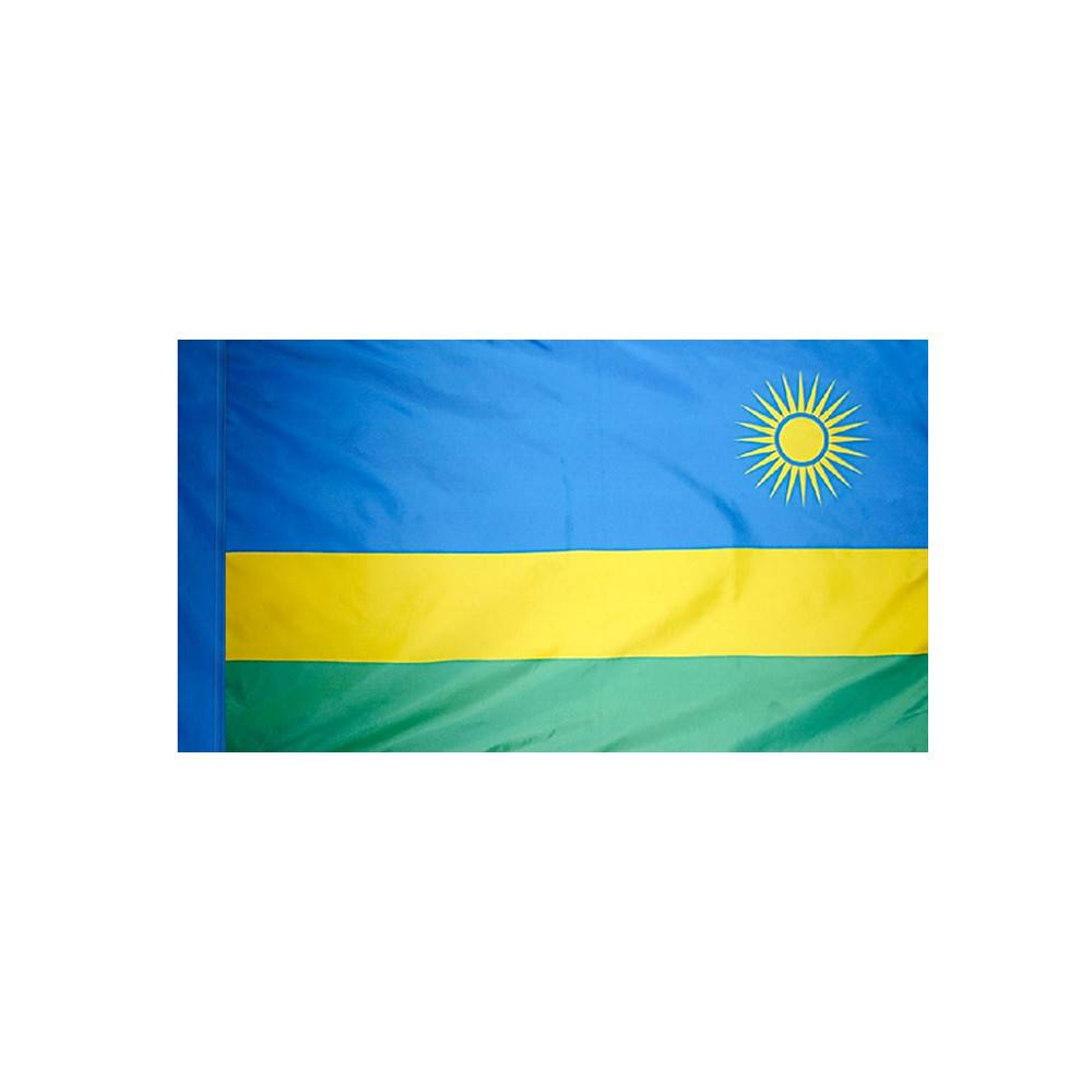 Rwanda Flag with Polesleeve