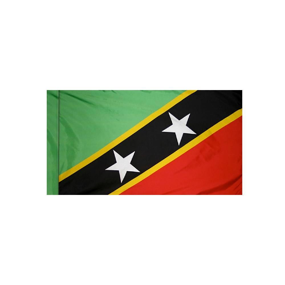 Saint Kitts-Nevis Flag with Polesleeve