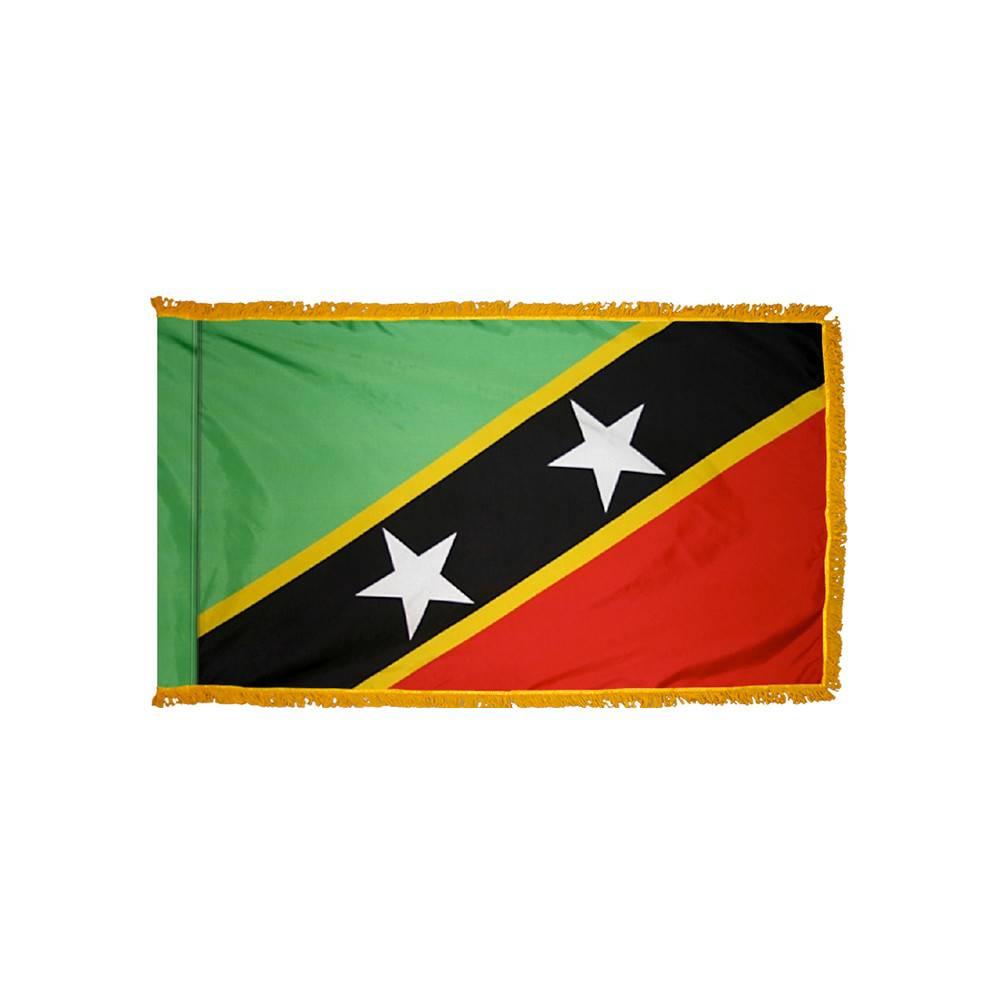 Saint Kitts-Nevis Flag with Polesleeve & Fringe