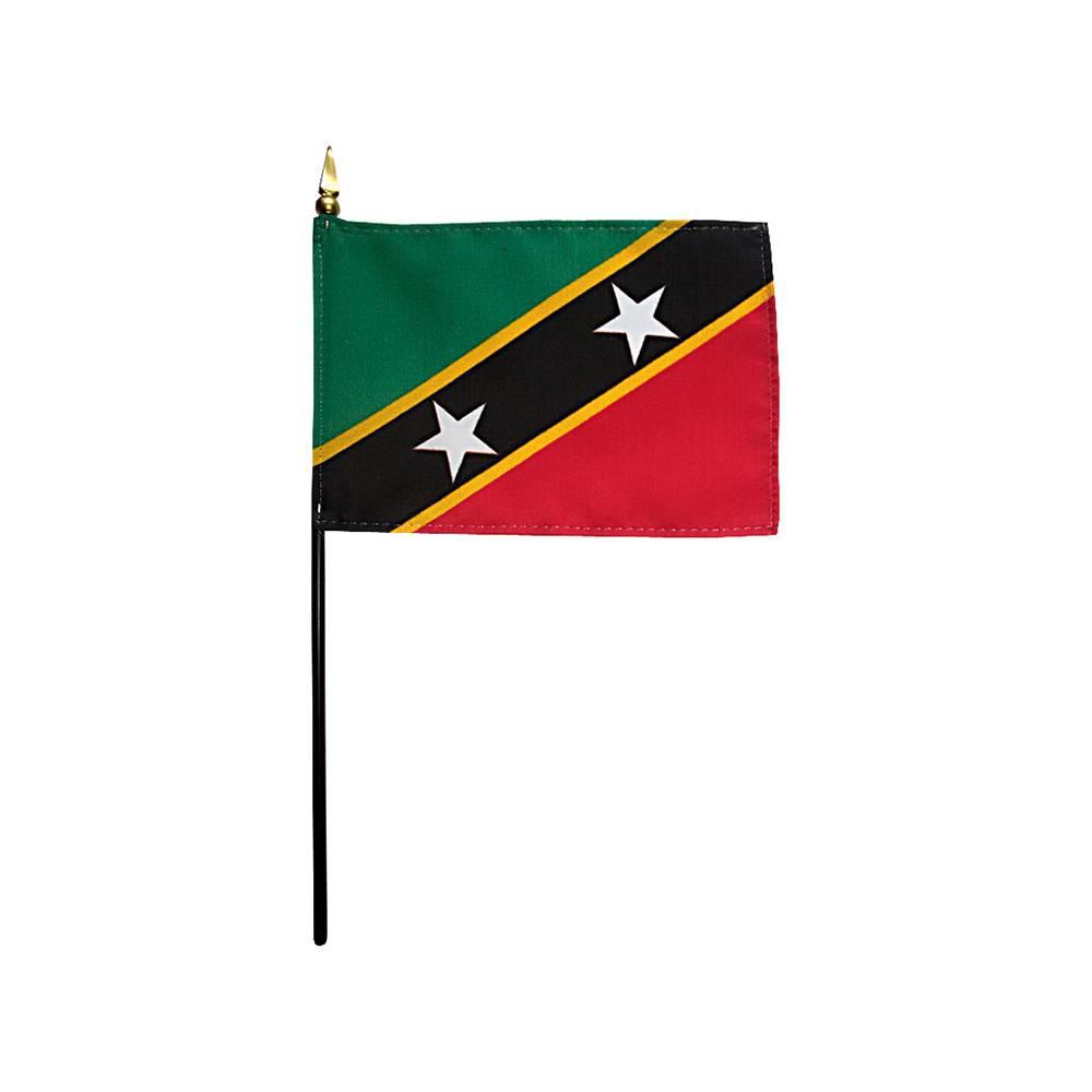Saint Kitts-Nevis Stick Flag 4x6 in